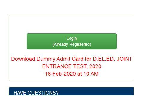 Bihar Board D.El.Ed Dummy Admit Card 2021
