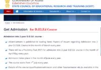 SCERT Assam D.El.Ed Online Admission 2020, Deled PET ODL Application Form, Eligibility, Apply Online at scert.assam.gov.in