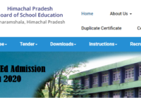 HPBOSE D.El.Ed Admission Notification 2020