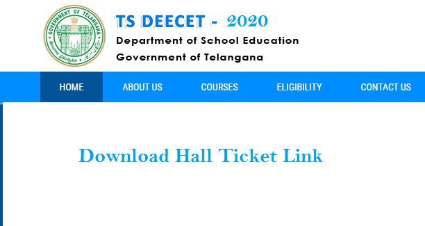 TS DEECET 2021 Hall Ticket Download