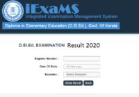 Kerala DElEd Result 2020