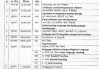 MP Board D.El.Ed Exam Time Table 2020 First Year
