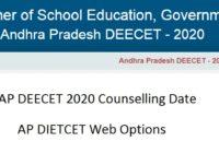 AP DEECET Counselling Date 2020