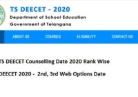 TS DEECET Counselling Date 2020 Rank Wise Web Options