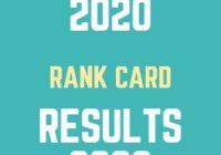 AP DEECET Results 2020 Rank Card Download Date
