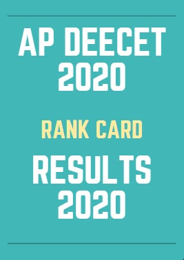 AP DEECET Results 2020 Rank Card Download Date