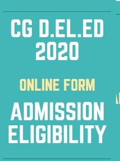 CG Pre D.El.Ed Admission 2021 Form