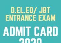 HP D.El.Ed CET Admit Card 2020 JBT Entrance Exam Date
