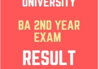 PDUSU BA 2nd Year Result 2020 Date