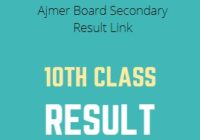 RBSE Board 10th Class Result 2020