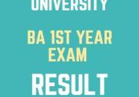 Shekhawati University BA 1st Year Result 2020 Name Wise
