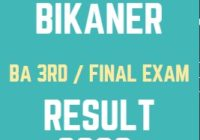 mgsubikaner.ac.in BA Final Result 2020