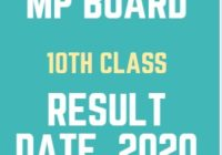 MPBSE 10th Class Result 2020 Date