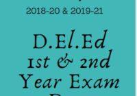 TS D.El.Ed Time Table 2020