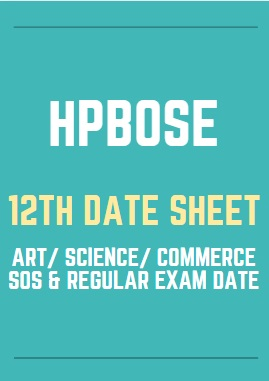 HP Board 12th Exam Date Sheet 2021