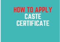 How to apply online Caste Certificate State Wise