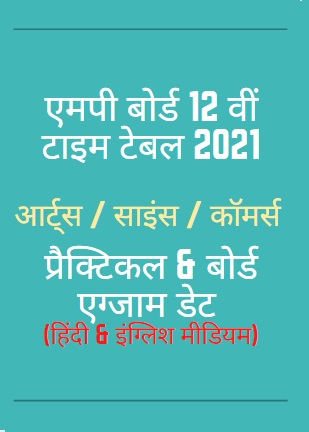 MP Board Time Table 2021 Class 12th
