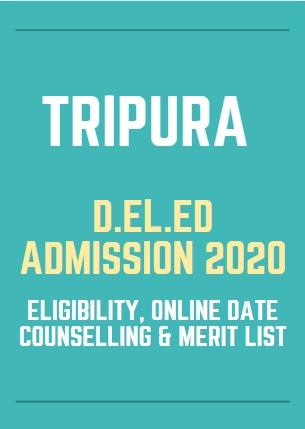 SCERT Tripura D.El.Ed Admission 2021 Merit List