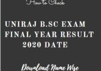 Uniraj BSc 3rd Year Result 2020