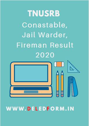 TNUSRB Constable Result 2020 TN Police Grade 2 Cut off