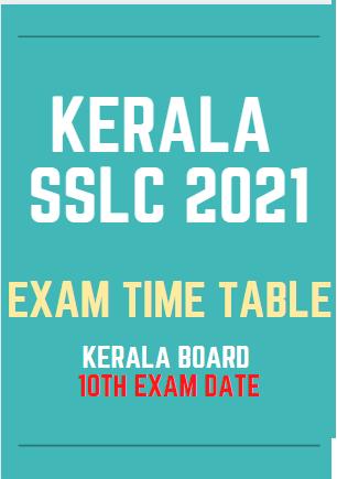keralapareekshabhavan.in SSLC Time Table 2021