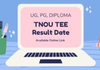 tnou.ac.in Result 2021 TNOU TEE Results December 2020