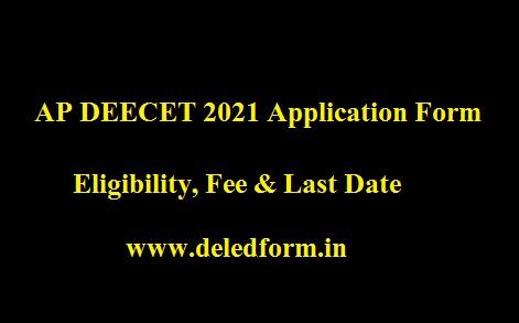 AP DEECET 2021 Application Form